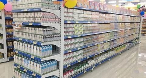 kệ trưng bày sữa